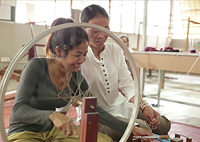 Maybank Silk Weaving Training Centre, Cambodia